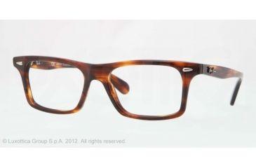 Ray-Ban RX5301 Progressive Prescription Eyeglasses 2144-53 - Havana Frame, Demo Lens Lenses