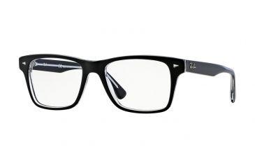 9755149127 Ray-Ban RX5308 Progressive Prescription Eyeglasses 2034-53 - Top Black On Transparent  Frame