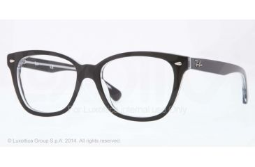 08caabc260f10 Ray-Ban RX5310 Eyeglass Frames 2034-51 - Top Black On Transparent Frame