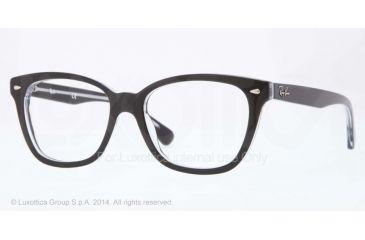 Ray-Ban RX5310 Bifocal Prescription Eyeglasses 2034-51 - Top Black On Transparent Frame