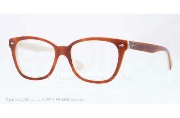 Ray-Ban RX5310 Bifocal Prescription Eyeglasses 5237-51 - Top Havana On Opal Ice Frame