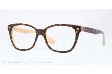 Ray-Ban RX5310 Bifocal Prescription Eyeglasses 5239-51 - Top Havana On Opal Peach Frame