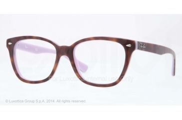 Ray-Ban RX5310 Bifocal Prescription Eyeglasses 5240-51 - Top Havana On Opal Violet Frame