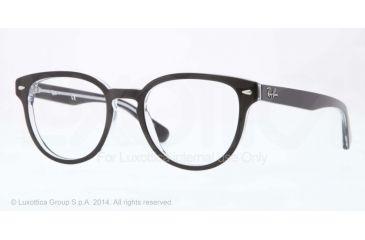 Ray-Ban RX5311 Bifocal Prescription Eyeglasses 2034-48 - Top Black On Transparent Frame