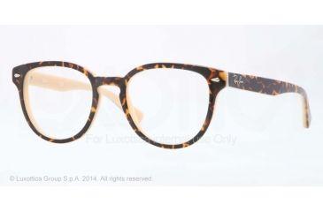 Ray-Ban RX5311 Bifocal Prescription Eyeglasses 5239-48 - Top Havana On Opal Peach Frame