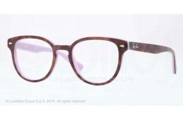 Ray-Ban RX5311 Bifocal Prescription Eyeglasses 5240-48 - Top Havana On Opal Violet Frame