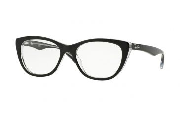 98857e08226 Ray-Ban RX5322 Eyeglass Frames 2034-53 - Top Black On Transparent Frame