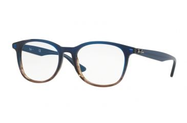 eec6781de16 Ray-Ban RX5356 Eyeglass Frames 5765-52 - Gradient Blue On Stripped Grey  Frame