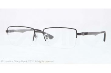 Ray-Ban RX6263 Progressive Prescription Eyeglasses 2503-52 - Matte Black Frame, Demo Lens Lenses