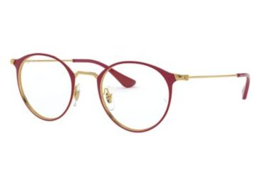 0101e5d046a Ray-Ban RX6378 Eyeglass Frames 3028-47 - Gold On Top Amaranth Frame