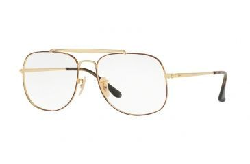 cf8454c63cc Ray-Ban RX6389 Eyeglass Frames 2945-55 - Gold On Top Havana Frame