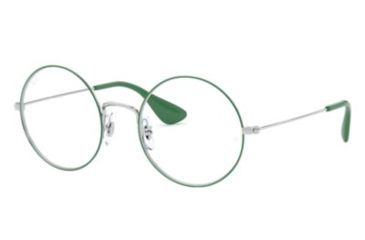 7c82e8d366b Ray-Ban RX6392 Single Vision Prescription Eyeglasses 3030-50 - Silver On  Top Green