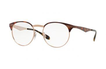 7959a2eed30 Ray-Ban RX6406 Eyeglass Frames 2971-49 - Copper On Top Havana Frame