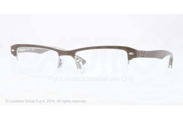 Ray-Ban RX7014 Bifocal Prescription Eyeglasses 5245-52 - Top Brown On Trasparent Beige Frame