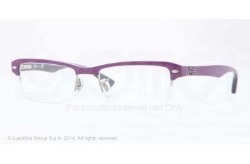 Ray-Ban RX7014 Bifocal Prescription Eyeglasses 5247-52 - Top Violet On Trasparent Viole Frame