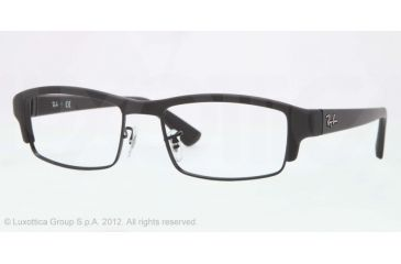 Ray-Ban RX7016 Progressive Prescription Eyeglasses 5196-54 - Matte Black Frame, Demo Lens Lenses