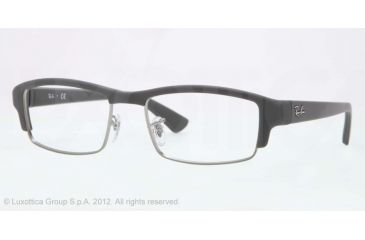 Ray-Ban RX7016 Progressive Prescription Eyeglasses 5202-54 - Matte Grey Frame, Demo Lens Lenses