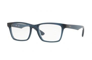 3efbeeb2f444f Ray-Ban RX7025 Eyeglass Frames 5719-53 - Trasparent Grey blue Frame