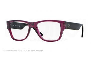 99bb43a2f84 Ray-Ban RX7028 Progressive Prescription Eyeglasses 5394-53 - Trasparent  Violet Frame