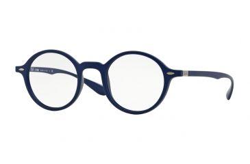 5107b1a042c6e8 Ray-Ban RX7069 Single Vision Prescription Eyeglasses 5439-46 - Matte Blue  Frame