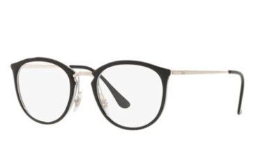 0ea6c63c872 Ray-Ban RX7140 Eyeglass Frames 5852-49 - Transparent On Top Black Frame