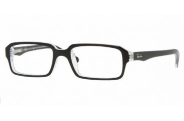 Ray-Ban RY 1520 Eyeglasses Styles - Top Black On Transparent Frame w/Non-Rx 45 mm Diameter Lenses, 3529-4515