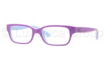 Ray-Ban RY1527 Single Vision Prescription Eyeglasses 3576-4515 - Top Violet / Azure / Gray Frame, Demo Lens Lenses