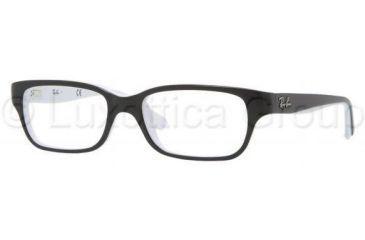 Ray-Ban RY1527 Single Vision Prescription Eyeglasses 3579-4515 - Top Black On White Frame