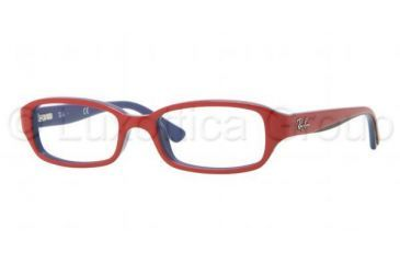 Ray-Ban RY1529 Bifocal Prescription Eyeglasses 3577-4516 - Top Red on Blue Frame, Demo Lens Lenses
