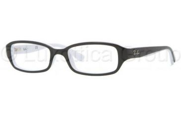 Ray-Ban RY1529 Bifocal Prescription Eyeglasses 3579-4716 - Top Black On White Frame