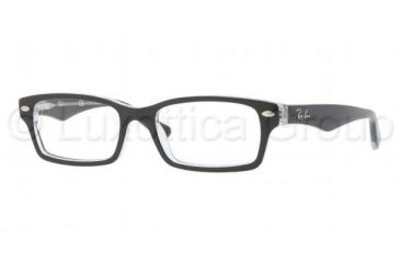 Ray-Ban RY1530 Eyeglass Frames 3529-4616 - Top Black On Transparent Frame