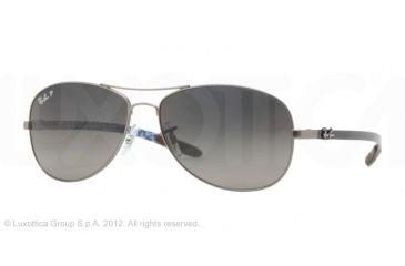 Ray-Ban RB8301 Sunglasses with No-Line Progressive Rx Prescription Lenses RB8301-029-98-56 - Lens Diameter 56 mm, Frame Color Matte Gunmetal