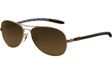 Ray-Ban Sunglasses RB8301 029/98-5614 - Matte Gunmetal Frame, Crystal Gray / Blue Polarized Lenses