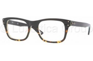 Ray-Ban RX5227 Progressive Prescription Eyeglasses 5028-5220 - Black Grad Havana/Yel