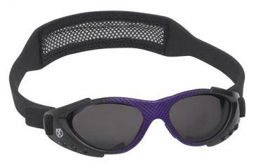 Real Kids Shades Xtreme Sport Sunglasses 7 - 12 Years - Purple Matte Metallic & Shiny Black w/ Black Mesh Band 712XTRSBLKPURP