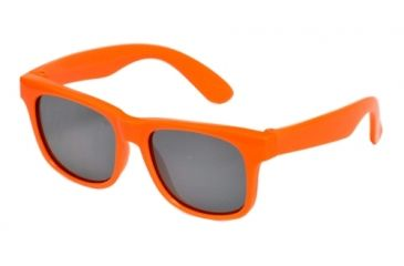Real Kids Shades Neon Orange Wayfarer Flex Fit Frame with Silver Mirror Lens 7+, Unisex 7SURNOR