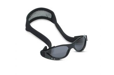 Real Kids Shades Xtreme Sport Sunglasses 7 - 12 Years - Black w/ Adjustable Mesh Band 712XTRSBLACK