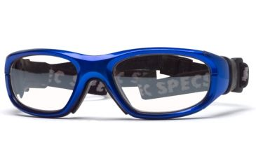 Rec Specs MX-21 Protective Eyewear Bright Blue Frame,Clear Lens, Unisex MX-21BLBK5117C