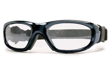 Rec Specs MX-21 Protective Eyewear Chrome Frame,Clear Lens, Unisex MX-21LCHR5117C