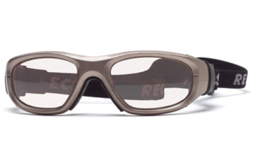 Rec Specs MX-21 Protective Eyewear Metallic Light Brown Frame,Clear Lens, Unisex MX-21MEBR5117C
