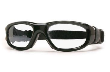 Rec Specs MX-21 Protective Eyewear Shiny Black Frame,Clear Lens, Unisex MX-21SHBK5117C