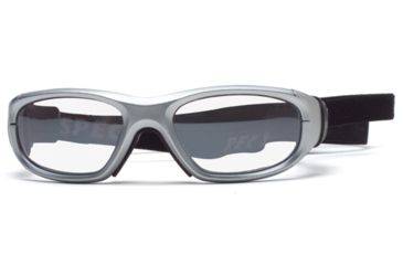 Rec Specs MX-21 Protective Eyewear Silver Frame,Clear Lens, Unisex MX-21PLSI4817C