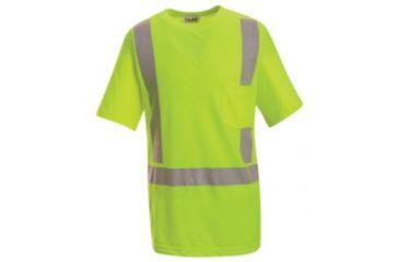 Red Kap Hi-Visibility Short Sleeve T-Shirt, YELLOW/GREEN, SSL SYK6HVSSL