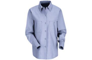 Red Kap Industrial Work Shirt, Women, Light Blue, RGL SP13LBRGL