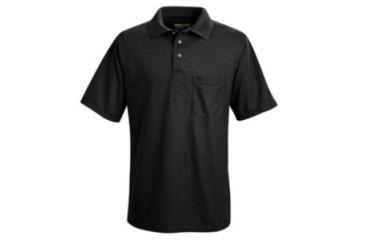 Red Kap Performance Knit Polyester Solid Shirt, Men, Black, SSL SK02BKSSL