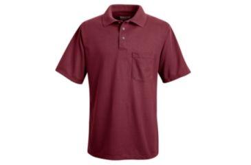 Red Kap Performance Knit Polyester Solid Shirt, Men, Burgundy, SSL SK02BRSSL