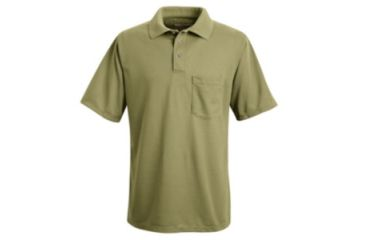 Red Kap Performance Knit Polyester Solid Shirt, Men, Khaki, SSL SK02KHSSL