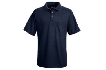 Red Kap Performance Knit Polyester Solid Shirt, Men, Navy, SSL SK02NVSSL
