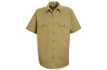 Red Kap Utility Uniform Shirt, Khaki, SSS ST62KHSSS