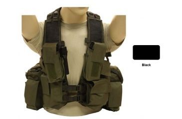 Red Rock Outdoor Gear Load Bearing Vest, Black, One-Size 510BLK